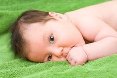 Brunette baby Stock Photos