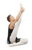 Brunette ballerina girl Stock Images