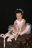 Brunette ballet girl Stock Photos