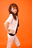 Brunette Beauty. A beautiful young brunette in casual clothes Royalty Free Stock Photos