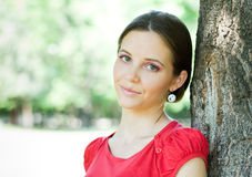 Brunette beauty outdoors Royalty Free Stock Photo