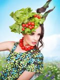 Brunette beauty posing Royalty Free Stock Image