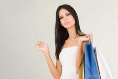 Brunette beauty shopping. Stock Photography