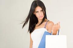 Brunette beauty shopping. Stock Images