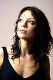 Brunette beauty in studio shot stock photos