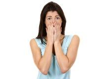 Brunette überrascht Lizenzfreies Stockfoto