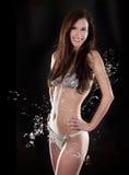 Brunette in bikini Fotografia Stock Libera da Diritti