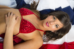 Brunette Bikini Model Royalty Free Stock Images