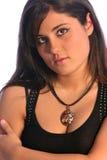 Brunette Black one Royalty Free Stock Images