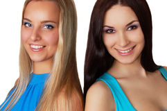 Brunette and blond Royalty Free Stock Photos