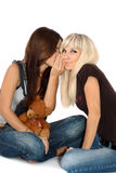 Brunette and the blonde Royalty Free Stock Photo
