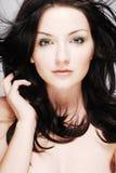 Brunette bonito fotografia de stock royalty free