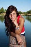 Brunette bonito joven Fotografía de archivo libre de regalías