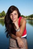 Brunette bonito joven Imagen de archivo