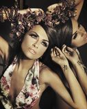 Brunette bonito novo imagens de stock royalty free