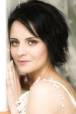 Brunette Bride Stock Photos