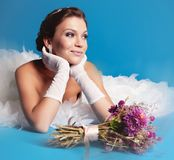Brunette bride Royalty Free Stock Images