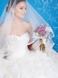 Brunette bride Stock Images