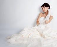 Brunette bride Stock Images