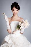 Brunette bride Royalty Free Stock Photo