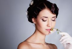 Brunette bride Royalty Free Stock Photos