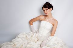 Brunette bride Royalty Free Stock Photography