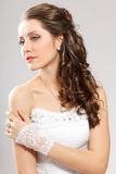 Brunette bride portrait Stock Image