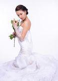 Brunette bride portrait in studio Stock Image