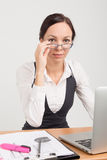 Brunette business lady boss Royalty Free Stock Images