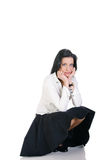Brunette business woman Stock Photography