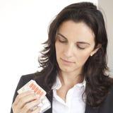 Checking pills Royalty Free Stock Photo