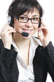Brunette businesswoman with headset Stock Image