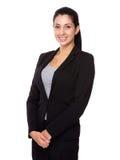 Brunette Businesswoman portrait Stock Photos