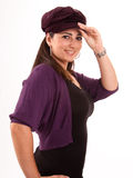 Brunette with cap Royalty Free Stock Photography