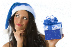 Brunette and christmas Royalty Free Stock Photo