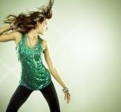 Brunette in clubwear Royalty-vrije Stock Foto