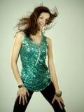 Brunette in clubwear Stock Photos