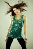 Brunette in clubwear Stock Images