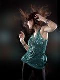 Brunette in clubwear Stock Photography