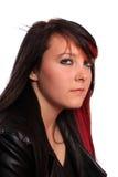 Brunette cobarde Fotografía de archivo