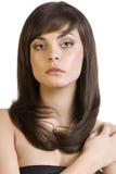 Brunette com cabelo liso Imagem de Stock Royalty Free