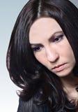 Brunette con capelli lunghi Fotografie Stock