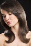 Brunette con el peinado fotografía de archivo