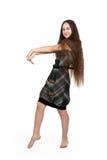 Brunette con el pelo largo Fotografía de archivo libre de regalías