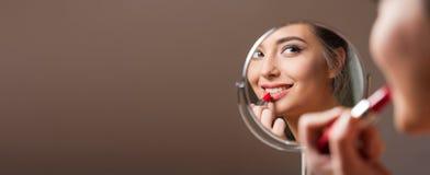Brunette cosmetics beauty. Royalty Free Stock Image