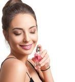 Brunette cosmetics beauty. Stock Image