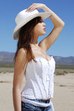 brunette cowgirl Στοκ φωτογραφία με δικαίωμα ελεύθερης χρήσης