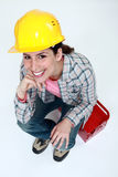 Brunette craftswoman Royalty Free Stock Photography