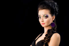 Brunette with creative makeup Royalty Free Stock Photo