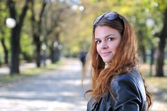 Brunette Cute young woman Stock Photography
